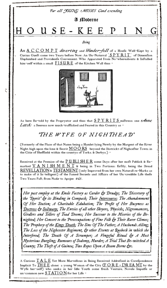 the front page of the housekeeping