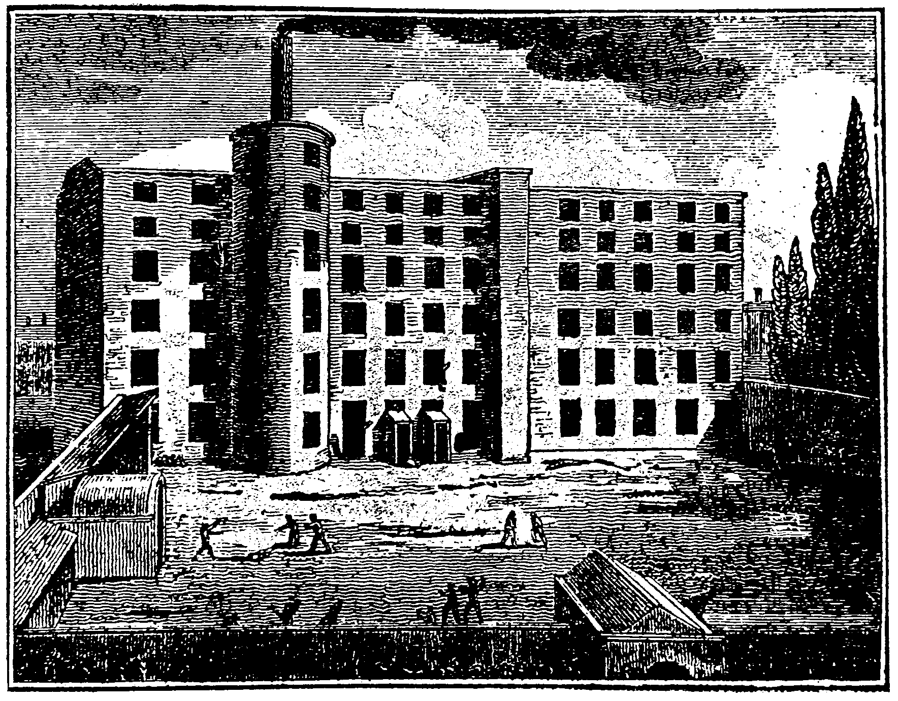a picture of the mill