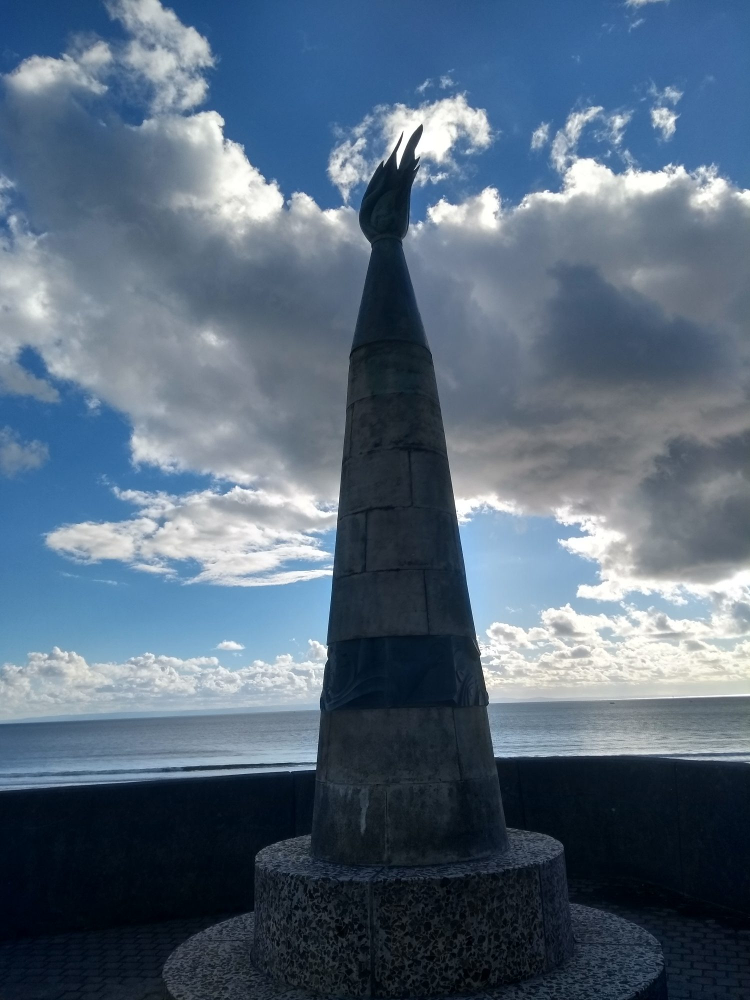A public sculpture on Swansea Bay seafront.