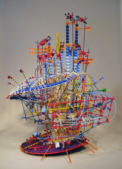 Hurricane Noel Sculpture, Nathalie Miebach